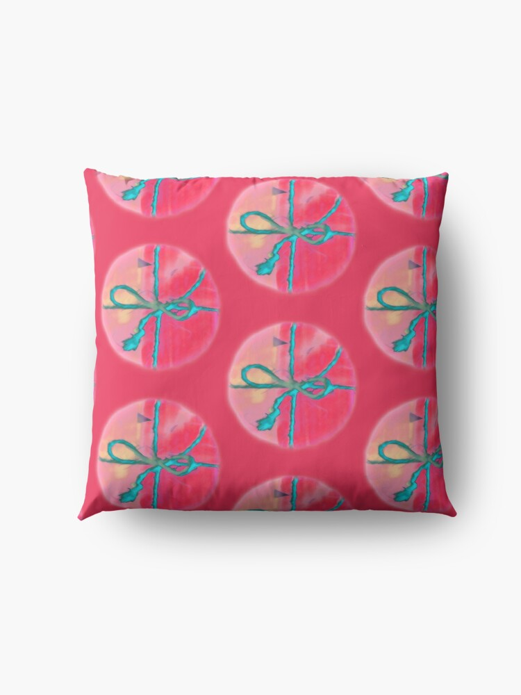 Alternate view of Electric Blue Lace Hugging Attractive Pink Wrap Floor Pillow
