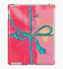 Atractivo azul eléctrico busca lazo rosa fluorescente... Vinilo o funda para iPad