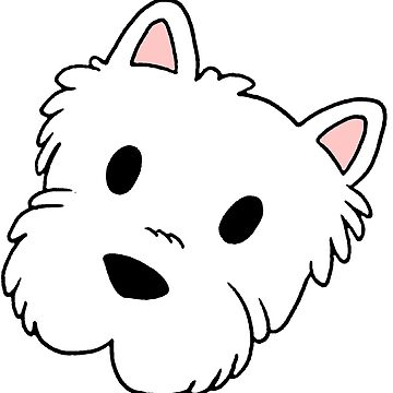 west highland white terrier cartoon head by marasdaughter