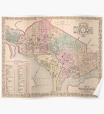 Vintage Map of Washington DC (1857) Poster