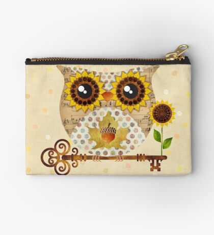 Owl's Autumn Song Zipper Pouch