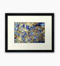 Colors in Stone Abstract Framed Print