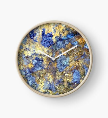 Colors in Stone Abstract Clock