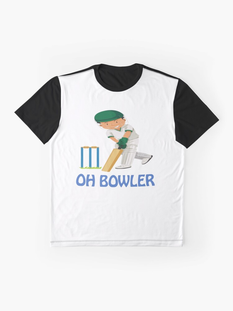 Alternate view of Cricket Batter Graphic T-Shirt
