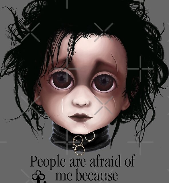 """Edward Scissorhands """"People are afraid of me because I'm different."""" BITTY BADDIES by Jody  Parmann"""