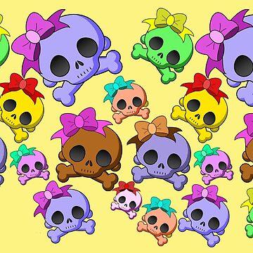 Cute Girly Kiddie Skulls  by Gravityx9
