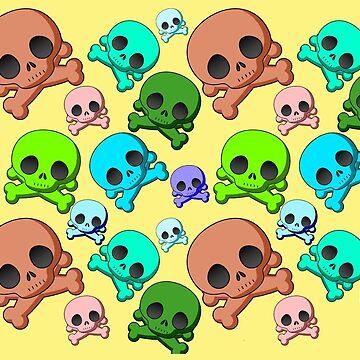 Cute Kiddie Skulls by Gravityx9