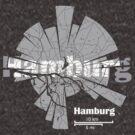 Hamburg Karte von UrbanizedShirts