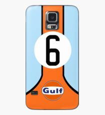 Gulf Livery Graphic-Tee Case/Skin for Samsung Galaxy