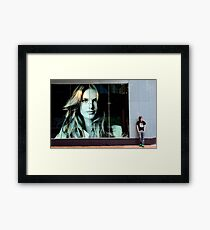 Adam & the Lady at Next. Framed Print