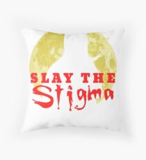 Buffy The Vampire Slayer Slay The Stigma Throw Pillow