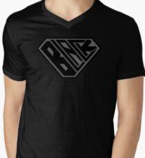 Black SuperEmpowered (Black on Black) Men's V-Neck T-Shirt