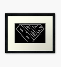 Black SuperEmpowered (Black on Black) Framed Print