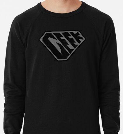 Geek SuperEmpowered (Black on Black) Lightweight Sweatshirt