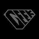 Geek SuperEmpowered (Black on Black) by Carbon-Fibre Media