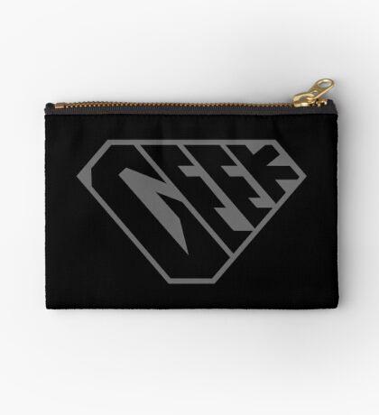 Geek SuperEmpowered (Black on Black) Zipper Pouch