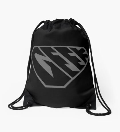 Geek SuperEmpowered (Black on Black) Drawstring Bag