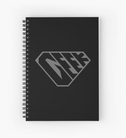 Geek SuperEmpowered (Black on Black) Spiral Notebook