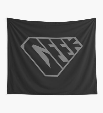 Geek SuperEmpowered (Black on Black) Wall Tapestry