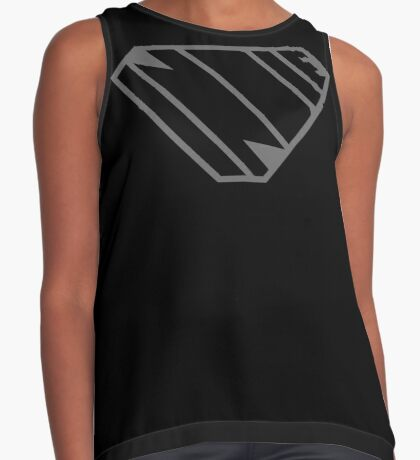 Indie SuperEmpowered (Black on Black Edition) Contrast Tank