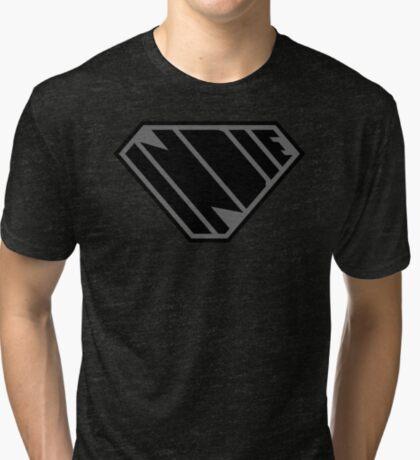Indie SuperEmpowered (Black on Black Edition) Tri-blend T-Shirt