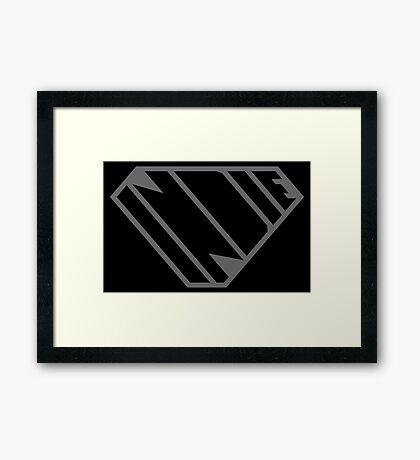 Indie SuperEmpowered (Black on Black Edition) Framed Art Print