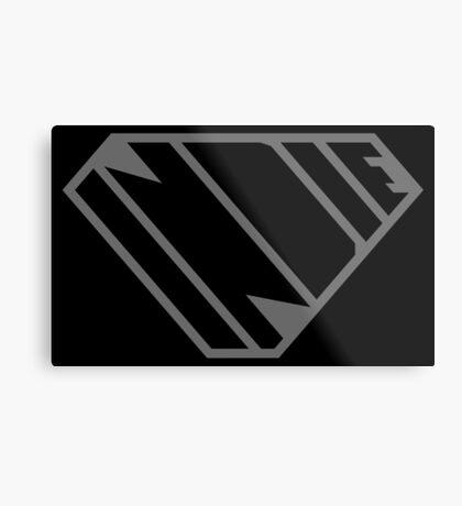 Indie SuperEmpowered (Black on Black Edition) Metal Print