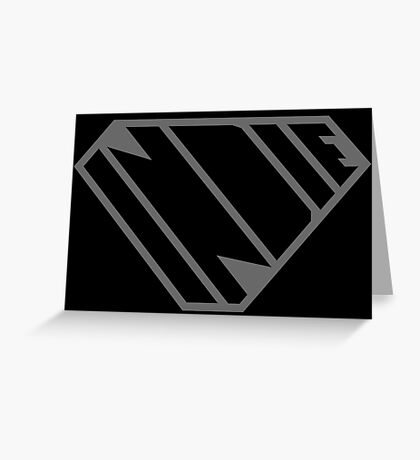 Indie SuperEmpowered (Black on Black Edition) Greeting Card