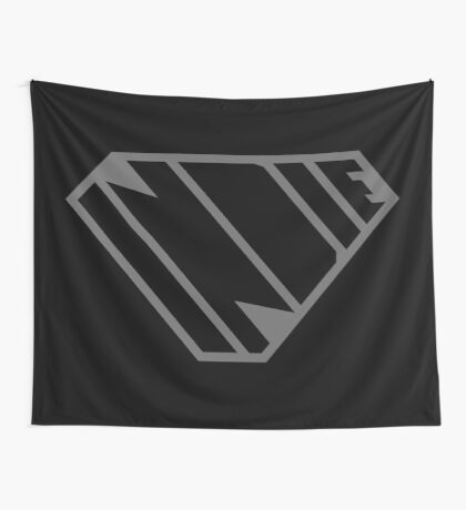 Indie SuperEmpowered (Black on Black Edition) Wall Tapestry