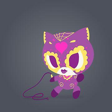 Purple Kitty Popmuertos 2017 by abowersock