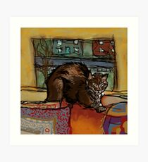 The Leisurely Cat Art Print