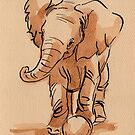 Let's Play: Baby Elephant Watercolor Painting #11 by Rebecca Rees
