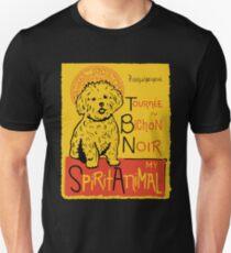 Funny Bichon Frise Cute Dog Chat Noir Mashup Art Design Unisex T-Shirt