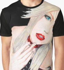 Aryu Morrigan Portrait Graphic T-Shirt