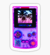 game boy color vaporwave retrowave videogame retrogame  Sticker