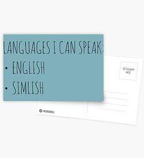 Languages I Can Speak Postcards