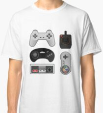 Oldschool Gaming - Controller Collection: NES, SNES, Genesis, Atari, PS1  Classic T-Shirt