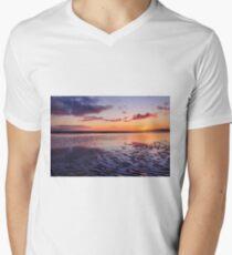 Murvagh Beach Sunset Men's V-Neck T-Shirt