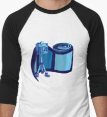 Camera and Big Film Men's Baseball ¾ T-Shirt