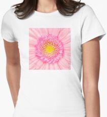 Pink Gerbera Flower Macro Women's Fitted T-Shirt