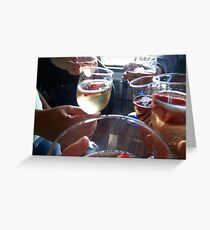 Champagne and Strawberrys Greeting Card