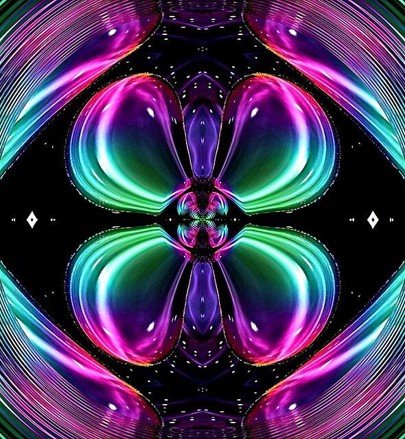 Alien Egg Butterfly Galaxy Vortex  by neonmoonwaves