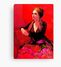 The Gypsy Skirt, oil painting on stretched canvas Canvas Print