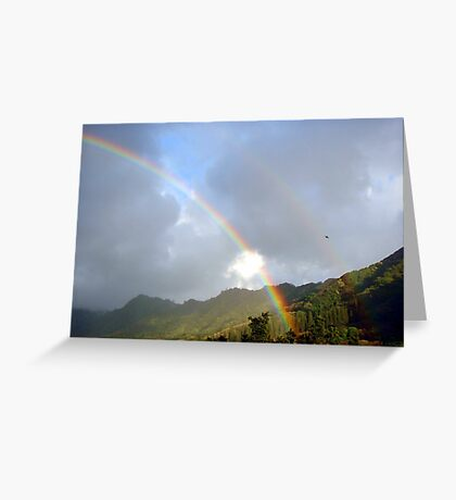 Double Rainbow in the Sky  Greeting Card