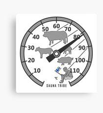 Sauna Tribe - Thermometer Canvas Print