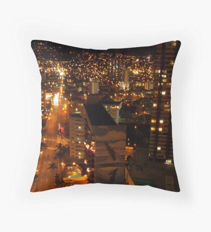 Honolulu at Night  Throw Pillow