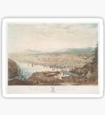 Vintage Pictorial Map of St Johns Newfoundland (1831) Sticker