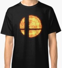 Super Smash Bros Flaming Logo Classic T-Shirt