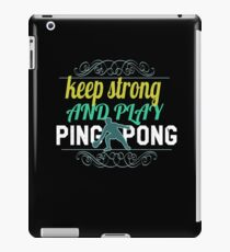Funny Ping Pong Apparel iPad Case/Skin
