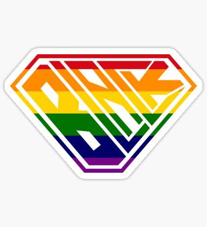 Black SuperEmpowered (Rainbow) Sticker